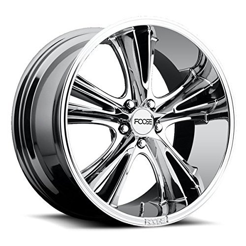 Foose Knuckle 18 Chrome Wheel / Rim 5x4.5 with a 1mm Offset and a 72.6 Hub Bore. Partnumber F09718956552