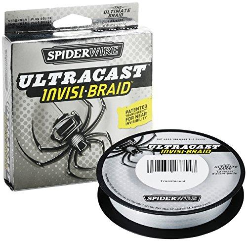 SpiderWire Ultracast Invisi-Braid Superline, Translucent, 20 Pound, 300 Yards