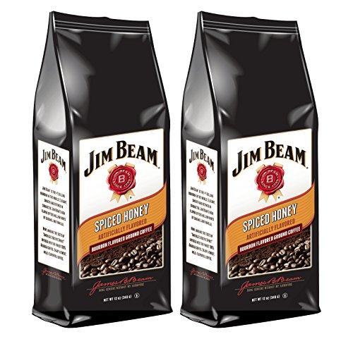 Jim Beam Sweet Honey - Jim Beam Spiced Honey Bourbon Flavored Ground Coffee, 2 bags (12 oz ea.)
