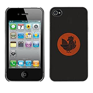 Be Good Phone Accessory // Dura Cáscara cubierta Protectora Caso Carcasa Funda de Protección para Apple Iphone 4 / 4S // special bird