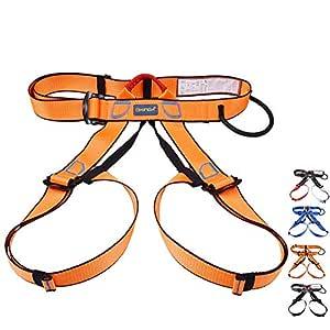 QPFH Cinturón de Escalada Profesional de Asiento Arnés Mujeres ...