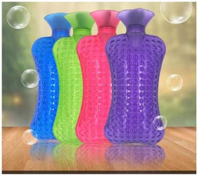 Botella de agua caliente transparente cuello uterino compresa caliente cuello cuello bolso cálido bolsa de agua caliente@Verde_Los 36 * 17cm: Amazon.es: Bricolaje y herramientas