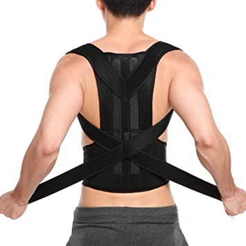 edca327296 Image Unavailable. Image not available for. Color  Back Posture Corrector  Office Shoulder Support Belts for Adult Corset Lumbar Spine Braces ...