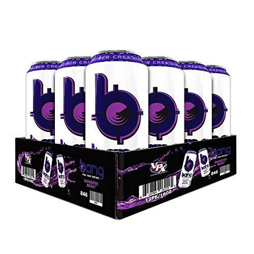 VPX Bang Bangster Berry, 16 Fl. OZ (12 Count) (Haze Beer Purple)