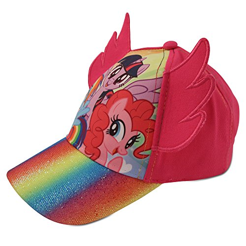 Hasbro Little Girls My Little Pony Character Cotton Baseball Cap, Pink, Age 2-7 (Little Girls - Age 4-7 - 53CM) -