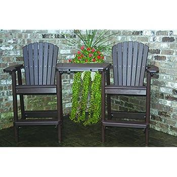 Amazon Com Polywood Adirondack Bar Height Chair White