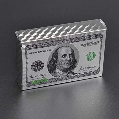 USA $100 Dollar Silver Foil Playing Cards