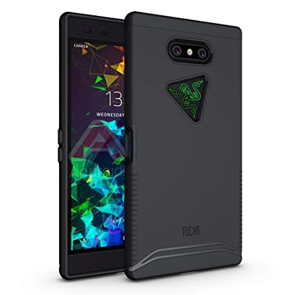 TUDIA Razer Phone 2 Case, [Merge Series] Dual Layer Heavy Duty Extreme Drop  Protection/Rugged Phone Case for Razer Phone 2 [2018] (Matte Black)
