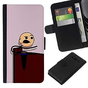 KLONGSHOP // Tirón de la caja Cartera de cuero con ranuras para tarjetas - Muchacho que come - Samsung Galaxy A3 //