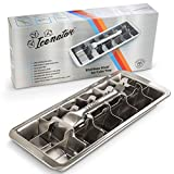 Easy Removal Metal Ice Trays with Handle - Stainless Steel Ice Cube Maker and Tray, 18 Slot Mold - BPA-Free, Food-Grade Freezer Molds for Baby Food, Juice, Popsicles, Alcoholic Drinks