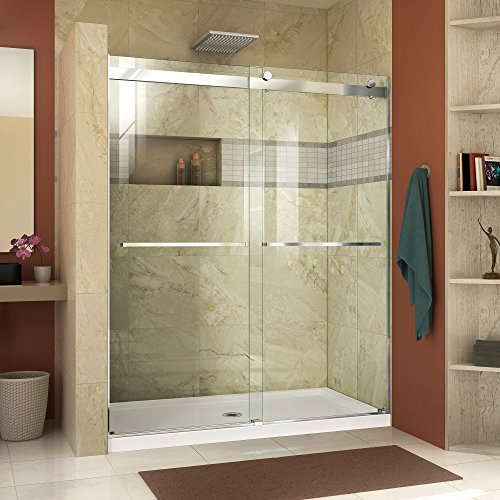 DreamLine Essence 44-48 in. W x 76 in. H Frameless Bypass Shower Door in Chrome, SHDR-6348760-01