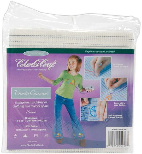 DMC CR9113 Waste Canvas, 12 by 18-Inch, 10 Count
