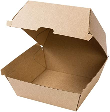 BIOZOYG Take Away Burger Box 250 Piezas I robustas Cajas de Hamburguesas con Tapa de bisagra