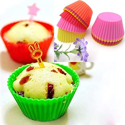 Silicone Mould - Soft Silicone Mould Candy Muffin Cup Cake Christmas Cakecup Cookie Cutter Moldes Para