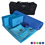 Product review for Yoga Set Kit 7-Piece 1 Yoga Mat, Yoga Mat Towel, 2 Yoga Blocks, Yoga Strap, Yoga Hand Towel, Free Carry Case for Exercises Yogis and Mom