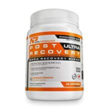 Post Workout Supplement - BCAA 4 1 1 Postworkout Recovery Ultra by Nutra Performance - Great Tasting Blue Raspberry Powder Mix