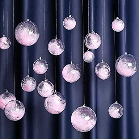 8 x 8 cm 3 Pack Verre Boules De Noël Figure