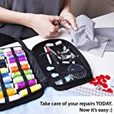 Sewing KIT– Premium Set with Over 100 Accessories & 24 Mixed Color Threads, for Emergency Sewing Repairs at Home, in The Office & Travel Trips, Beginner Mini Sew Kits