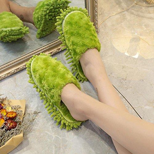Pantoufle Shoes Flip Claquette Vert Femme Chaussures rawdah Flop Fourrure Faux Sandal Duveteux Mules Z4wqSf