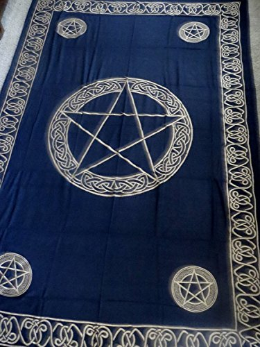 Hippie/Indian Tapestry/Wall/Bedspread/Tablecloth Gold Pentacle 72