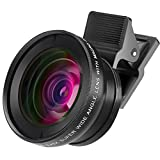 BSR International 2 in 1HD Camera Lens Kit with 0.45X Super Wide Angle Lens and 12.5X Macro Lens Clip-On Cell Phone Lens for iPhone 6s / 6 Plus / 5s Samsung Galaxy LG HTC All Smartphones