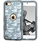 iPod Touch 5th 6th Gen Case, JoJoGoldStar Dual Layer Hybrid, Slim Fit Heavy Duty Polycarbonate and Silicone TPU...