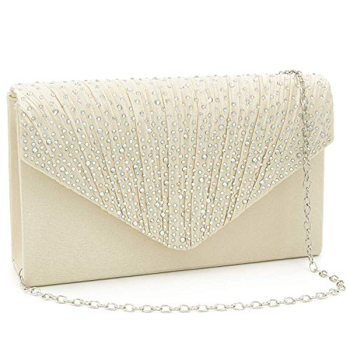 (Milisente Evening Bag for Women, Glitter Rhinestone Wedding Evening Purse Crystal Envelope Crossbody Shoulder Clutch Bags)