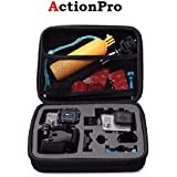 Action Pro Medium Size Travel Storage Case Compatible with GoPro SJCAM 4K Yi EKEN etc Action Camera