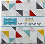 Fabric bundle of 42 10-inch squares from the Creative Rockstar collection by designer Rad & Happy for Riley Blake Designs.