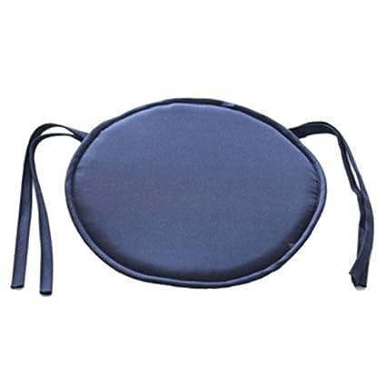 Cojín redondo acolchado para silla, de EMVANV, para uso exterior e interior, para la casa o la oficina, azul marino, Tamaño libre