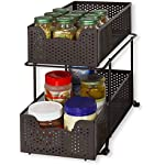 'SimpleHouseware 2 Tier Sliding Cabinet Basket Organizer Drawer, Bronze' from the web at 'https://images-na.ssl-images-amazon.com/images/I/51d0hMMzzOL._AC_SR150,150_.jpg'
