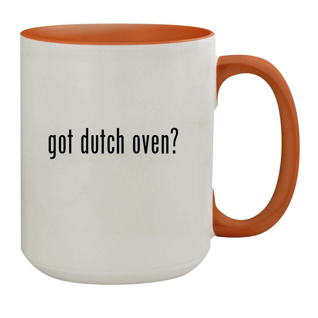 got dutch oven? - 15oz Colored Inner & Handle Ceramic Coffee Mug, Orange