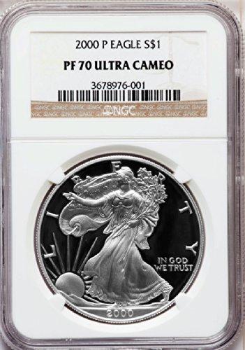 2000 P American Silver Eagle Dollar DCAM NGC PF70