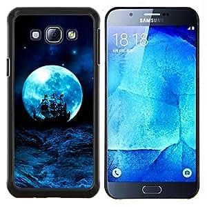 Eason Shop / Premium SLIM PC / Aliminium Casa Carcasa Funda Case Bandera Cover - Blue Storm nave océano Velas - For Samsung Galaxy A8 ( A8000 )