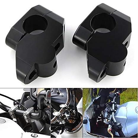 Repuestos Powersports For Honda CBX 750 XL1000V VTR1000F FMX 650 NT650V NX 650 650 SLR de 22 mm 7//8 barra de la manija de la abrazadera Raised Extender montaje del manillar Risers Color : Silver