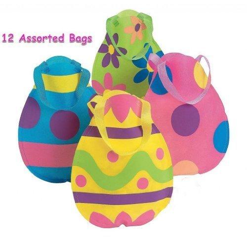 Set of 12 Nylon EASTER EGG Tote Bags/9
