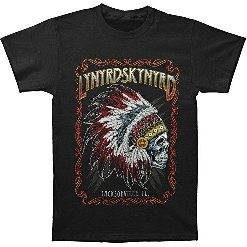 Lynyrd Skynyrd Men's Indian Skeleton T-shirt Black