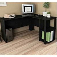 Computer Corner Desk L-Shaped Workstation Home Office Student Furniture Black RV