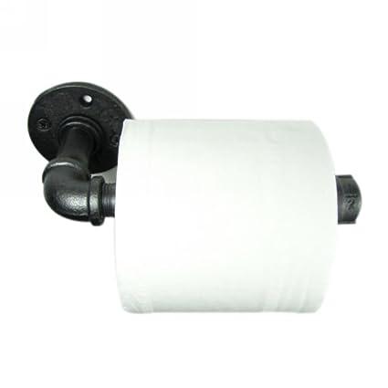 imqoq de estilo urbano industrial tubo de hierro de metal montado en la pared soporte de