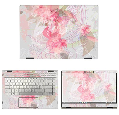 e Decal Floral Skin Sticker for HP Pavilion X360 14M-CD0003DX (14