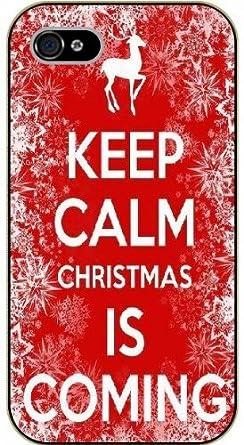Keep Calm Christmas Is Coming.Iphone 5c Keep Calm And Christmas Is Coming Black Plastic
