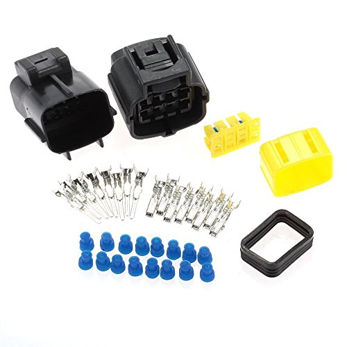 8 Pin Connector (HiseNook 2 Kit Waterproof Electrical Wire Cable 8 Pin Way Connector Plug (Package includes 2)