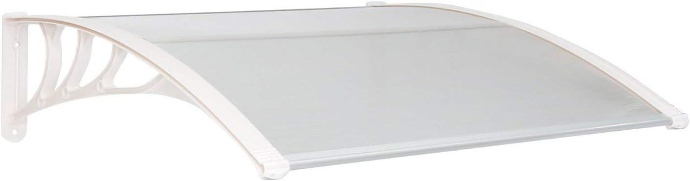 UISEBRT Vordach f/ür Haust/ür 200 x 100 cm 200 x 100 cm, Schwarz Schwarz Transparent Polycarbonat Pultvordach /Überdachung 5 mm