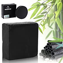 Activated Bamboo Charcoal Soap,2 Pcs/Set All Natural Detoxifying Wash Face Clean Blackhead Zit Remover Oil-Control Whitening Handmade Soap Fit All Types of Skin