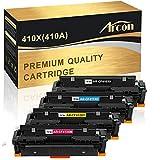 Arcon Compatible Toner Cartridge Replacement for HP 410A 410X CF410A CF410X M477fdw HP Color Laserjet Pro MFP M477fdw M477fnw M477fdn M452dn M452dw M452nw M452 M477 M377dw CF411X CF412X CF413X Toner