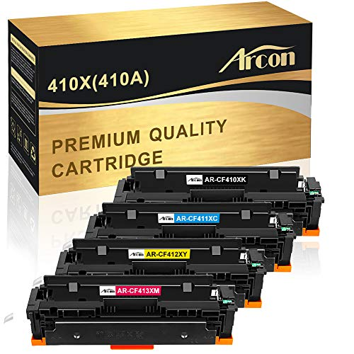 (Arcon Compatible Toner Cartridge Replacement for HP 410A 410X CF410A CF410X M477fdw HP Color Laserjet Pro MFP M477fdw M477fnw M477fdn M452dn M452dw M452nw M452 M477 M377dw CF411X CF412X CF413X Printer)
