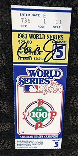 Cal Ripken Jr World Series - Cal Ripken Jr Autographed Signed 1983 World Series Ticket Steiner Orioles Phillies - Authentic Memorabilia