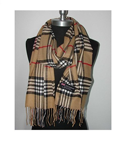 Camel_(US Seller)Scarf Check Plaid Scotland Winter Cute Women Men - A92 (Diy Sally Halloween Costume)