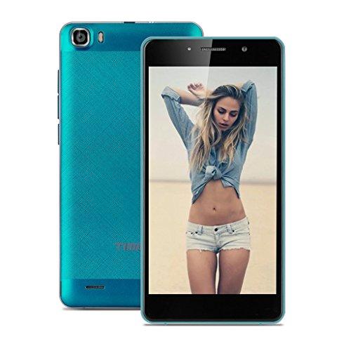 TIMMY M12 3G Smartphone 5.5 Zoll IPS HD Android 5.1 Dual SIM Quad Core 1.3GHz Handy ohne Vertrag 1GB RAM + 8GB ROM Smart Wake Air Gesture Blau