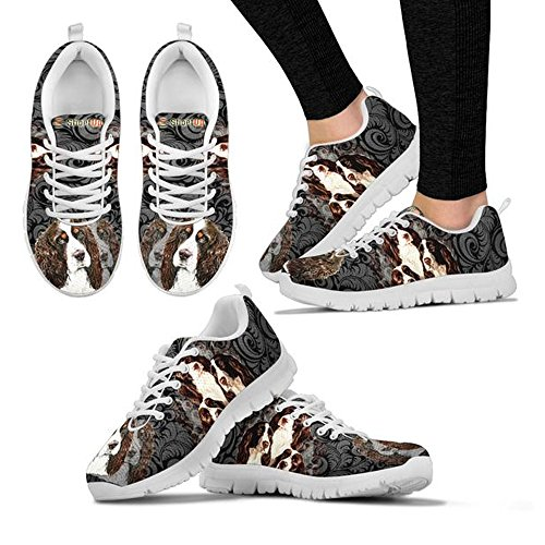 Women's Casual Dog Choose Shoetup Spaniel Print Your Breed Shoes English Sneakers Running Springer wBa6Hq